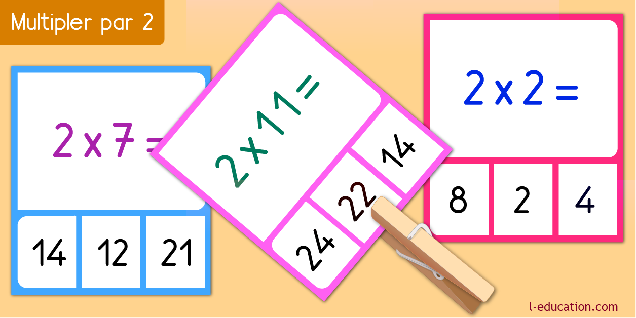 cartes memory - Table de multiplication de 2
