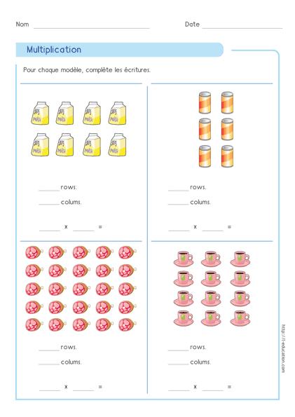 le sens et la base de la multiplication