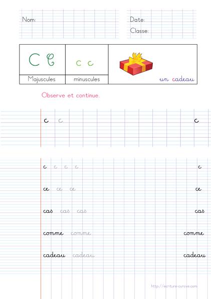 Copie CP - mots en c