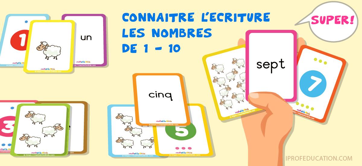 Maîtriser les Nombres de 1 à 10 avec les Cartes du Berger Héros - correspondance nombres 1 à 10 chiffres quantités lettres