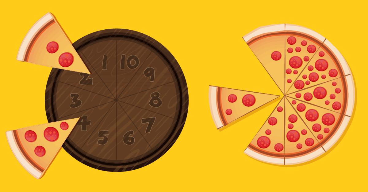 Pizza Math - Dénombrer les quantités de 1 à 10 - Faire correspondre les nombres chiffres et quantités