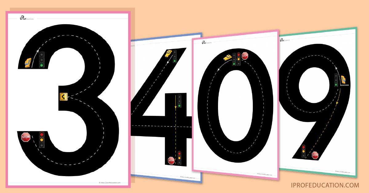 Pistes Graphiques chiffres - Pré-écriture Maternelle