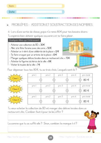 progression math CE1 - problème math CE1