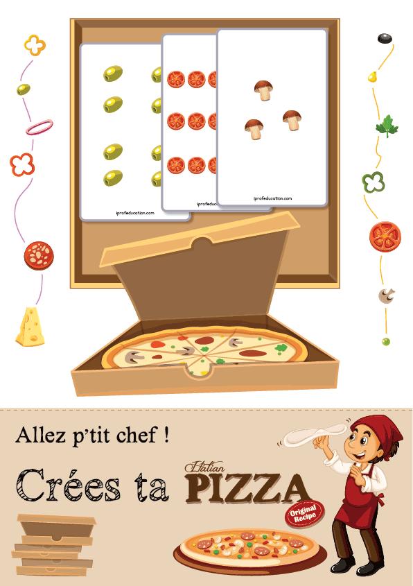 Le chef pizzaïolo - carton pizza à ingrédients