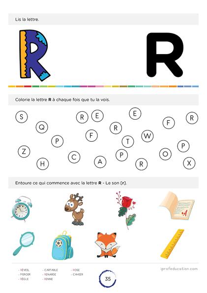 apprendre à lire l'alphabet