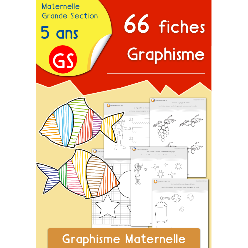 66 fiches graphisme maternelle gs. Black Bedroom Furniture Sets. Home Design Ideas