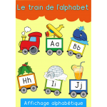 Le train de l'alphabet CAPITALES