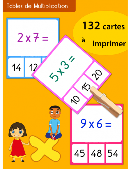 Quiz interactif cartes fiches table de multiplication - Table de multiplication vierge a imprimer ...