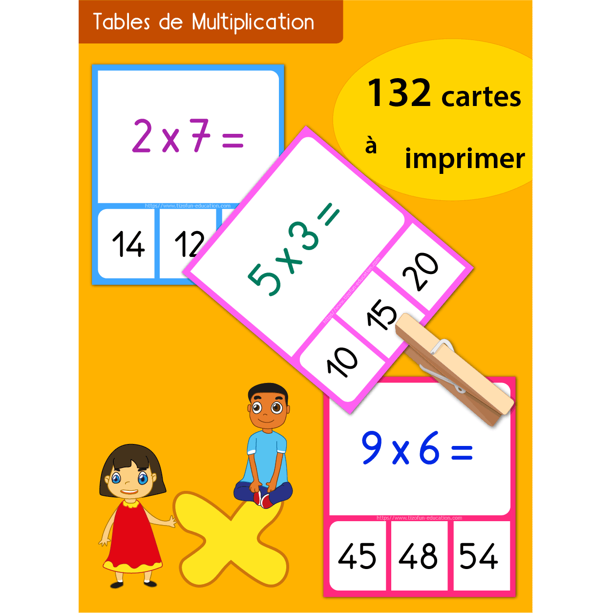 Jeu memory tables de multiplication imprimer for Jeu des multiplications