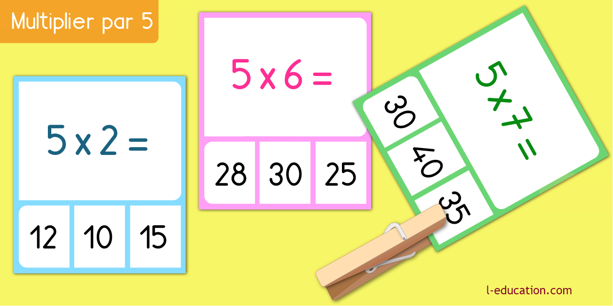 cartes memory - Table de multiplication de 3