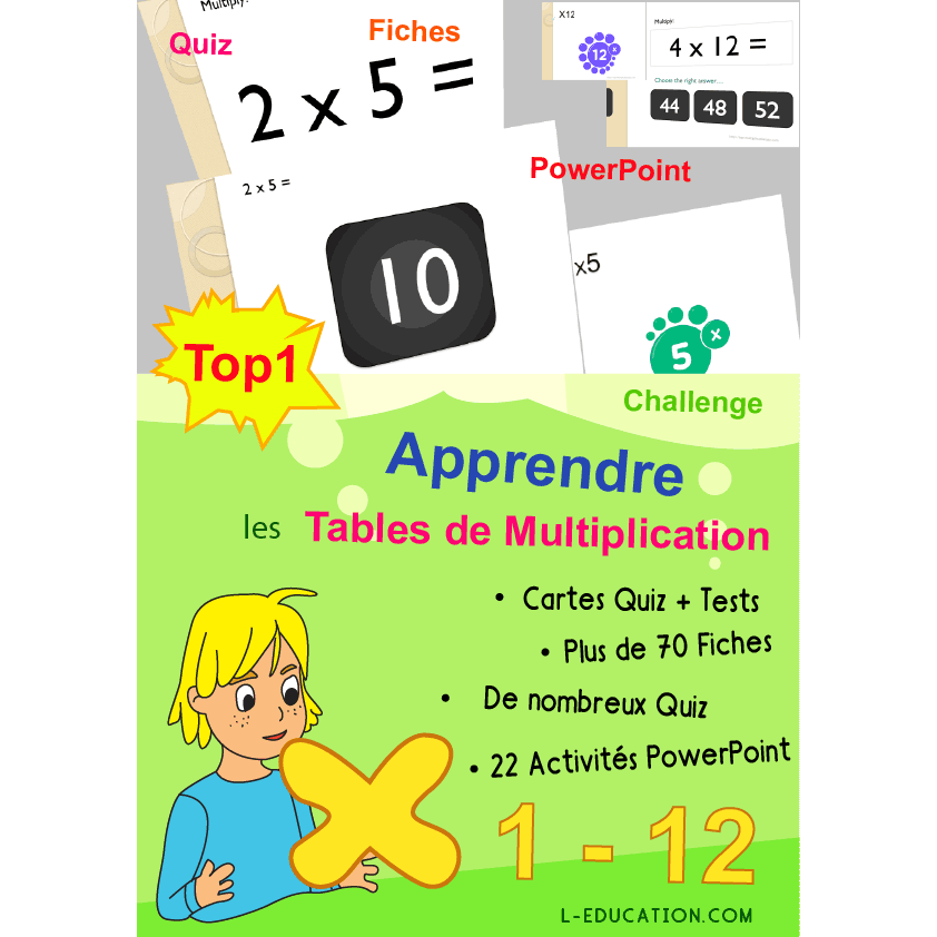Apprentissage des tables de tags apprentissage des - Apprentissage des tables de multiplication ...