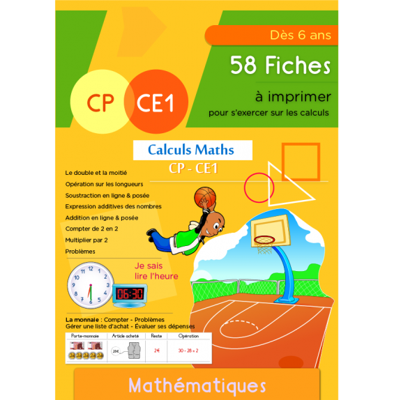 Calculs Maths CP CE1 | Additions Soustractions Problèmes CP CE1